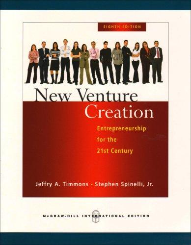 9780071276320: New Venture Creation: Entrepreneurship for the 21st Century.