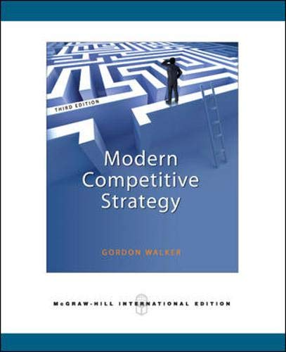 9780071276337: Modern Competitive Strategy