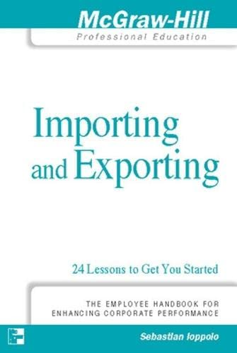 9780071278010: Importing and Exporting: 24 Lessons to Get You Started