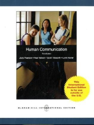 9780071278867: Human Communication