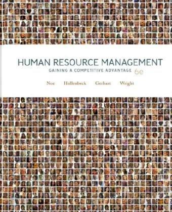 Human Resource Management 6Ed (Ie) (Pb 2008): Raymond A. Noe