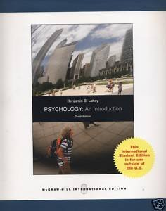 9780071280006: Psychology: An Introduction, International Student Edition