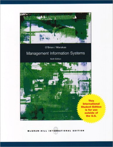 9780071280433: Management Information Systems.