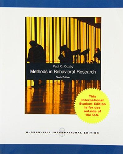 9780071281027: Methods in Behavioral Research