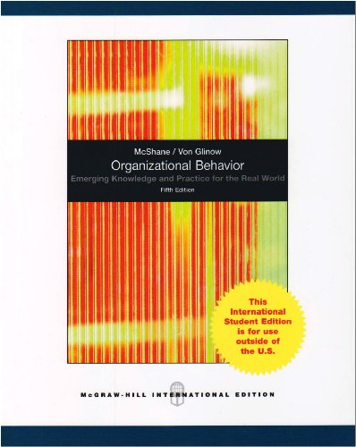 9780071281034: Organizational Behavior