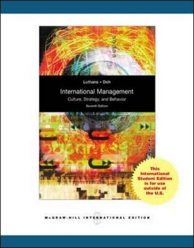 9780071282406: International Management: Culture, Strategy, and Behavior