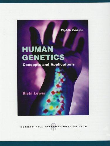 Human Genetics (0071283102) by Lewis, Ricki