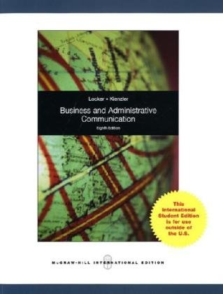 9780071283113: Business and Administrative Communication