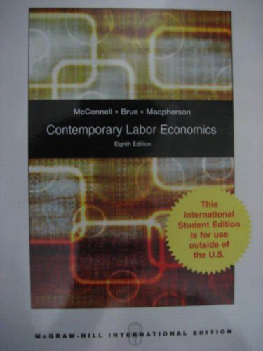 9780071283199: Contemporary Labor Economics