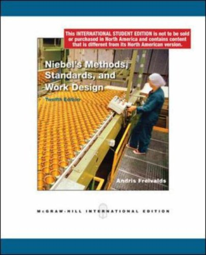 9780071283229: Niebel's Methods, Standards, and Work Design