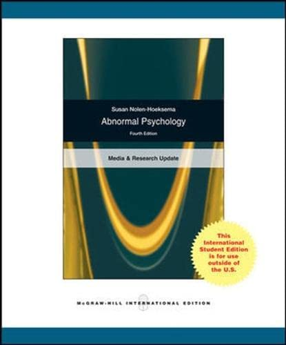 9780071283243: Abnormal Psychology
