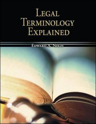 9780071283250: Legal Terminology Explained for Paralegals