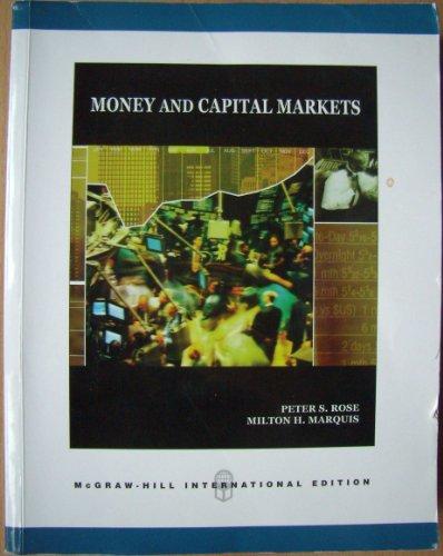 9780071283397: Money and Capital Markets