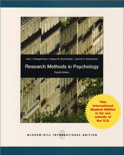 9780071283519: Research Methods In Psychology