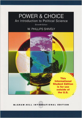 9780071283533: Power and Choice: An Introduction to Poltical Science