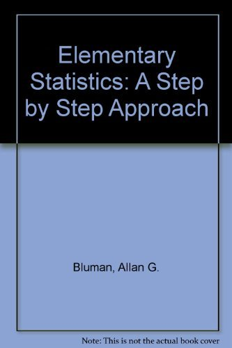 9780071283564 Elementary Statistics A Step By Step Approach
