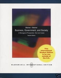 9780071283571: Business, Government, and Society: A Managerial Perspective, Text and Cases
