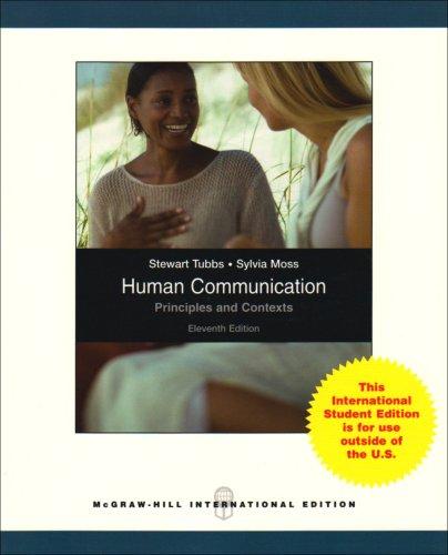 9780071283632: Human Communication: Principles and Contexts