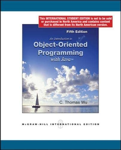 9780071283687: An Introduction to Object-Oriented Programming with Java (Int'l Ed)