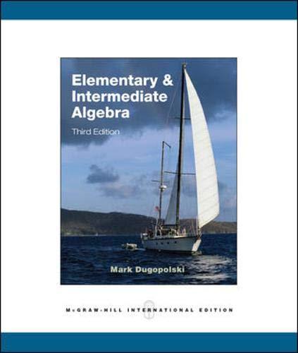9780071284028: Elementary and Intermediate Algebra