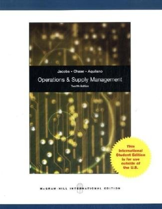 9780071284189: Operations and Supply Management with Student DVDRom