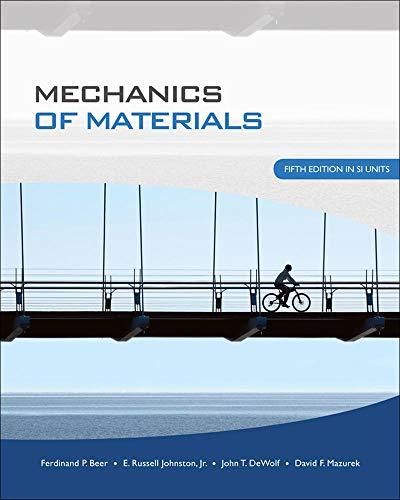 Mechanics of Materials (0071284222) by Ferdinand Pierre Beer