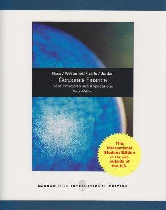 9780071284332: Corporate Finance: Core Principles and Applications