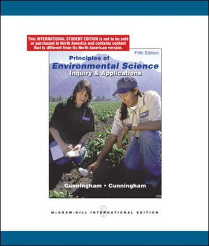 9780071284486: Principles of Environmental Science: Inquiry & Applications