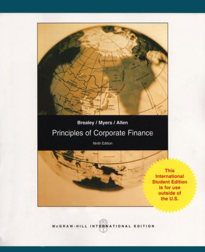 9780071284912: Principles of Corporate Finance: Pt. E