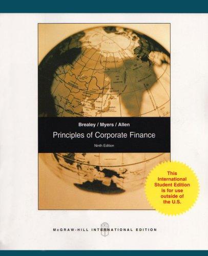 9780071284912: Principles of Corporate Finance: Pt. E