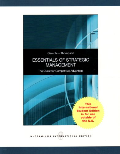 9780071285049: Essentials of Strategic Management: The Quest for Competitive Advantage
