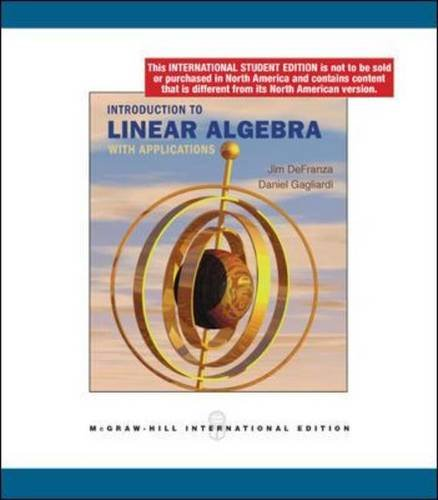 9780071285315: Introduction to Linear Algebra