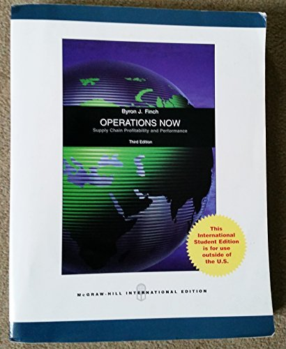9780071285728: Operations Now: Supply Chain Profitability and Performance