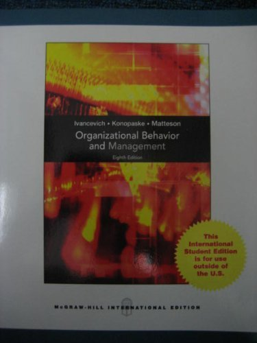 9780071285803: Organizational Behavior and Management