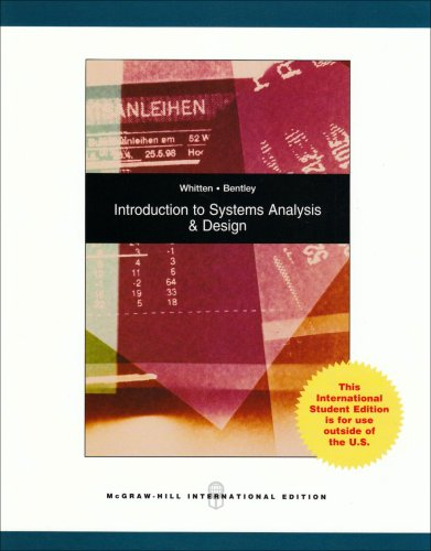 Introduction to Systems Analysis and Design: WHITTEN