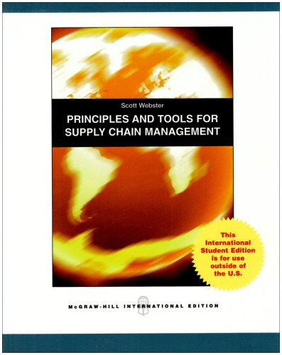 9780071285889: Principles and Tools for Supply Chain Management