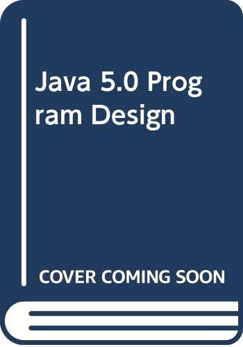 9780071286060: Java 5.0 Program Design