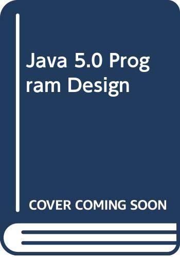 9780071286060: Java 5.0 Program Design