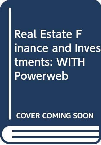 Real Estate Finance and Investments: WITH Powerweb (9780071286121) by William B. Brueggeman; Jeffrey Fisher