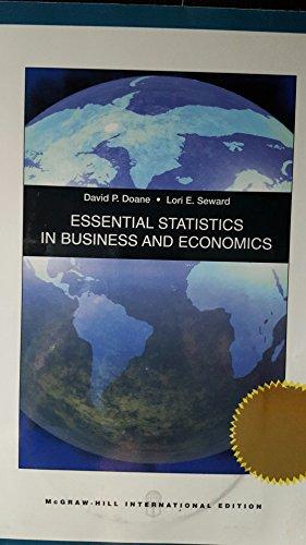 9780071286695: Essential Statistics in Business and Economics