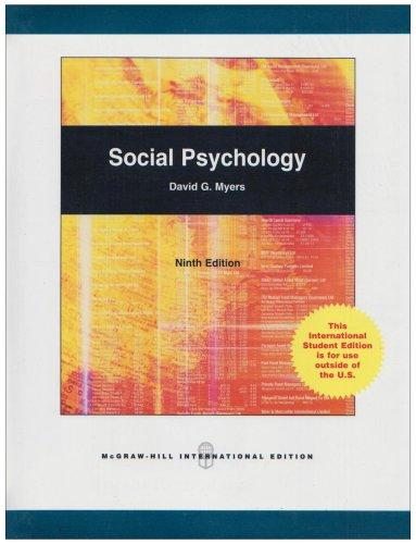 9780071286701: Social Psychology, 9E (Hb 2008)