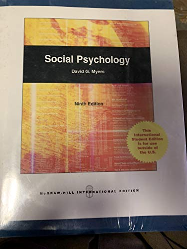 9780071286701: Social Psychology (9th Edition)