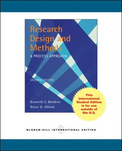 Research Design and Methods: A Process Approach (0071287507) by Bordens, Kenneth S.