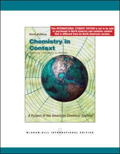 9780071287555: Chemistry in Context. American Chemical Society