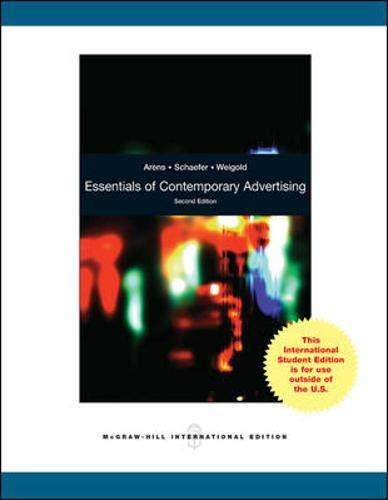 9780071287579: Essentials of Contemporary Advertising. William F. Arens, David H. Schaefer