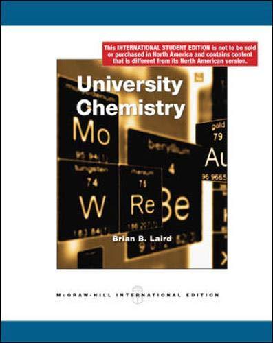 9780071287746: University Chemistry (Int'l Ed)