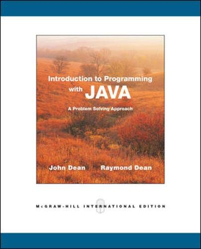 9780071287814: Introduction to Programming with Java