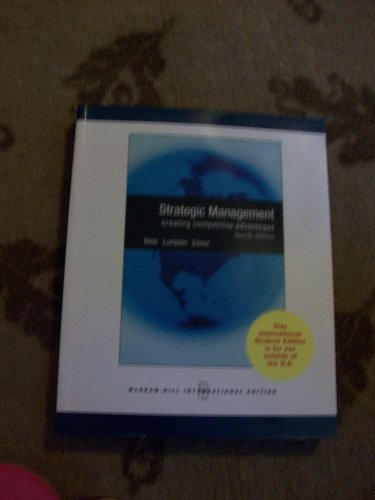 strategic management dess lumpkin eisner chapter 13 International business strategy and integration spring 2015  dr  dess, g, lumpkin, g, eisner, a & mcnamara, g (2014) strategic  2/9:  chapter 13: analyzing strategic management cases team case analysis  creative  note: we will review chapter 13 of the dess text for suggestions on  how to.