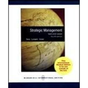9780071287845: Strategic Management: Text and Cases