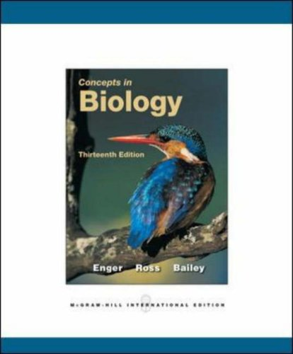 9780071287890: Concepts in Biology. Eldon Enger, Frederick Ross and David Bailey
